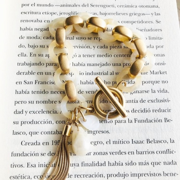 Alquimia Jewelry - 3 /35 GOLD AND MOTHER OF PEARL BRACELET